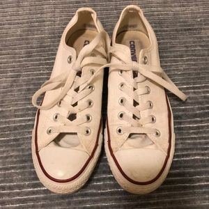 White converse. Lightly worn